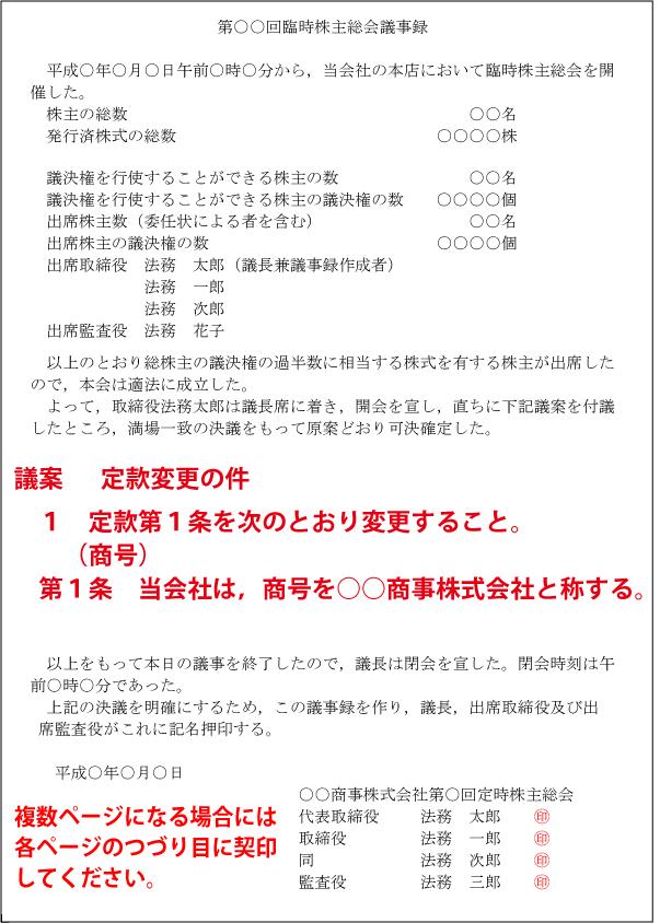 議事録(商号変更)