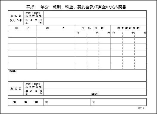 支払報告書