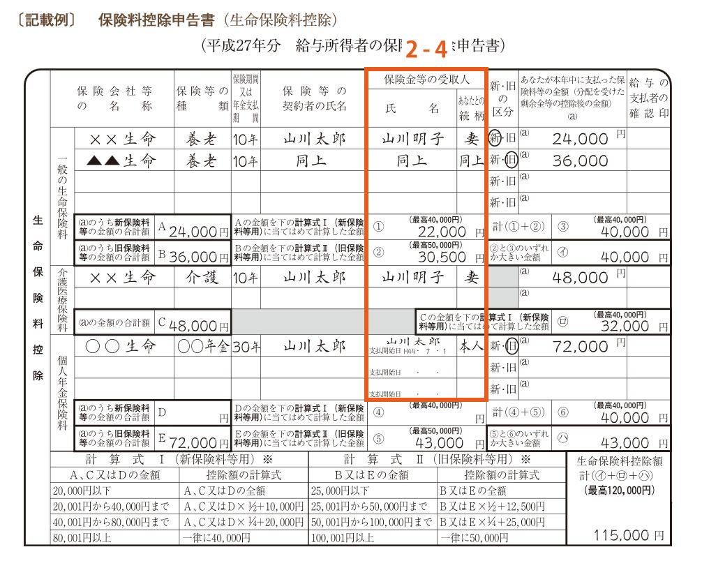 保険料控除申請書2-4