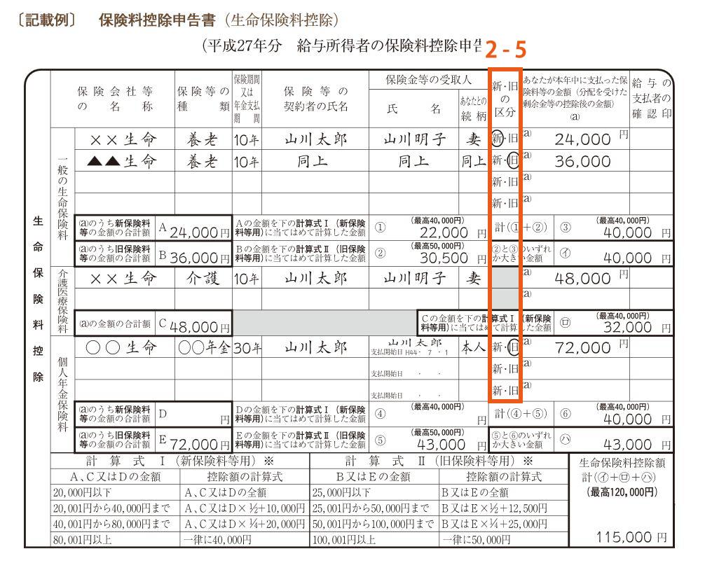 保険料控除申請書2-5