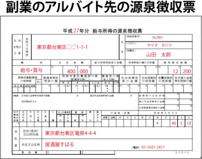 副業の源泉徴収票